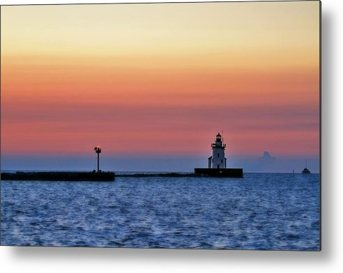 Landscape Metal Print featuring the photograph Sunset After Glow by Brian Bendlock