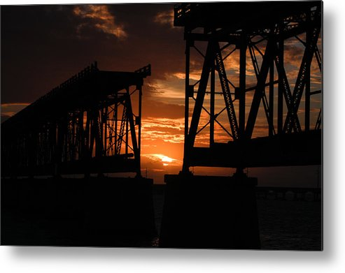 Sunset Metal Print featuring the photograph Sunset At Flagler Bridge 2 by Patsy Zedar