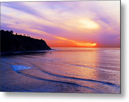 Sunset At Pv Cove Metal Print featuring the photograph Sunset At Pv Cove by Ron Regalado
