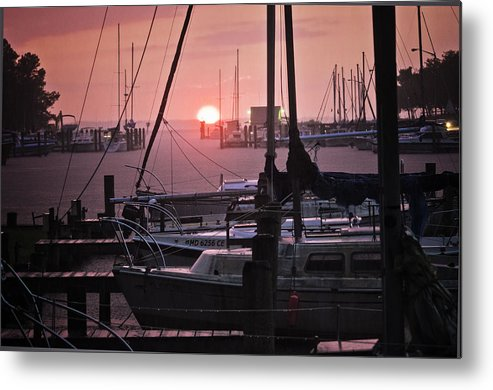 Harbor Metal Print featuring the photograph Sunset Harbor by Kelly Reber