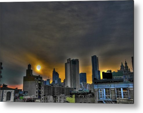 Les Metal Print featuring the photograph Sunset In Manhattan's Lower East Side by Randy Aveille