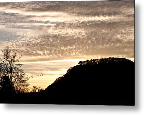 Landscape Metal Print featuring the photograph Sunset Silhouette by Megan Campbell