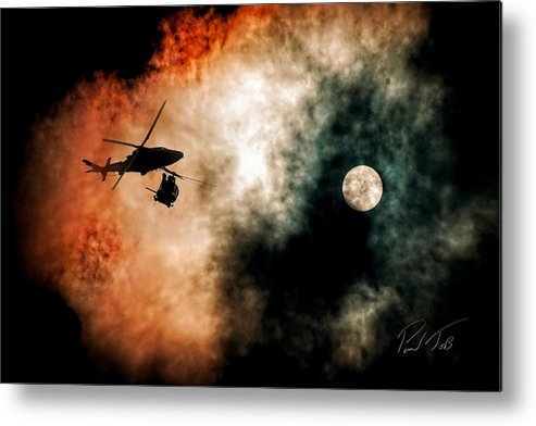 Aviation Metal Print featuring the photograph Sunset Twins by Paul Job