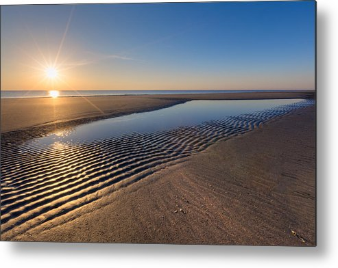 Clouds Metal Print featuring the photograph Sunshine On The Beach by Debra and Dave Vanderlaan