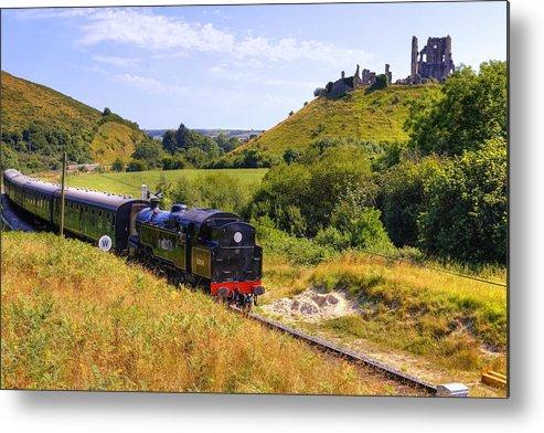 Swanage Steam Railway Metal Print featuring the photograph Swanage Steam Railway by Joana Kruse