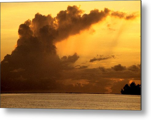 Bora Bora Tahiti Metal Print featuring the painting Sweet Mystery Of...stormcloud by David M Davis