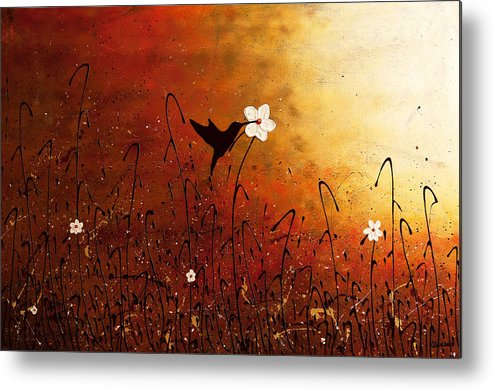 Abstract Art Metal Print featuring the painting Sweet Nectar by Carmen Guedez