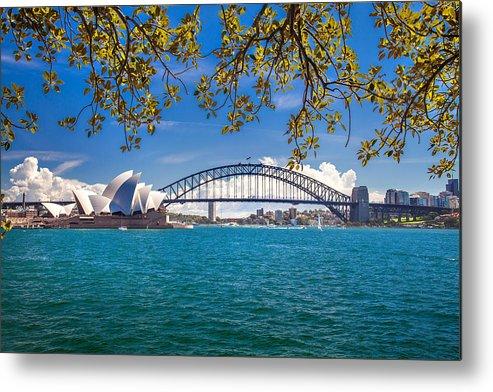 Sydney Metal Print featuring the photograph Sydney Harbour Skyline 2 by Az Jackson