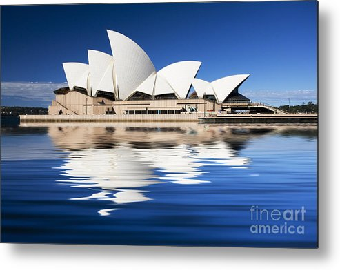 Sydney Opera House Metal Print featuring the photograph Sydney Icon by Sheila Smart Fine Art Photography