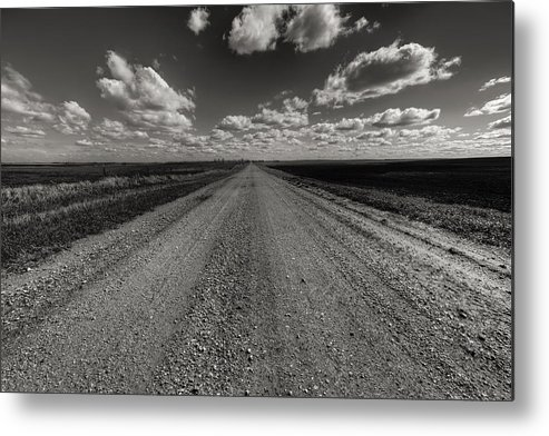 Suth Dakota Metal Print featuring the photograph Take A Back Road Bnw Version by Aaron J Groen