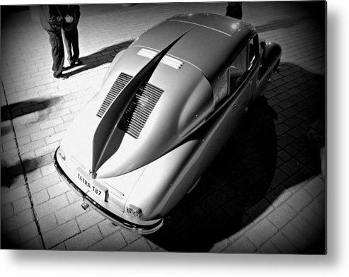 Classic Car Metal Print featuring the photograph Tatra Noir by Steve Natale