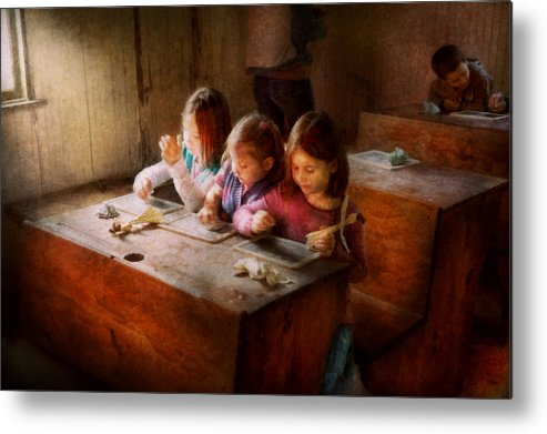 Teacher Metal Print featuring the photograph Teacher - Classroom - Education Can Be Fun by Mike Savad