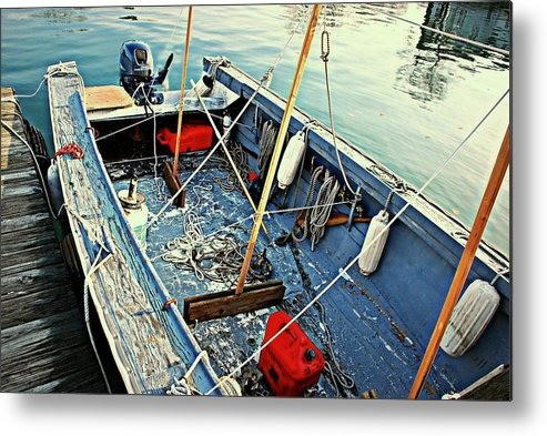 Boat Metal Print featuring the photograph Tender by Diana Angstadt