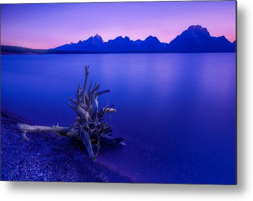Teton Metal Print featuring the photograph Teton Summer Sunset by Jerry Patterson
