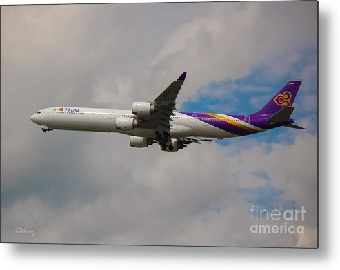 Thai Airways Metal Print featuring the photograph Thai Airways A340 Airbus by Rene Triay Photography
