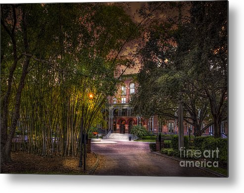 Bamboo Metal Print featuring the photograph The Bamboo Path by Marvin Spates