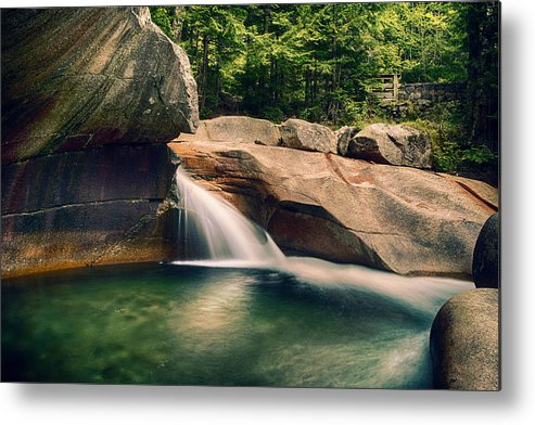 Metal Print featuring the photograph The Basin At Franconia Notch State Park Nh by Martin Popov