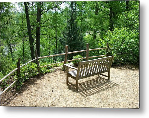 Benches Metal Print featuring the photograph Asian Paths No. 10 by Walter Oliver Neal