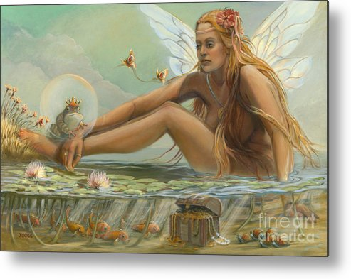 Fairy Metal Print featuring the painting The Betrothal by Joose Hadley
