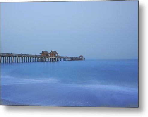 Pier Metal Print featuring the photograph The Blue Hour by Kim Hojnacki