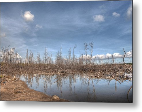 Desert Metal Print featuring the photograph The Blue Water Desert by Imago Capture