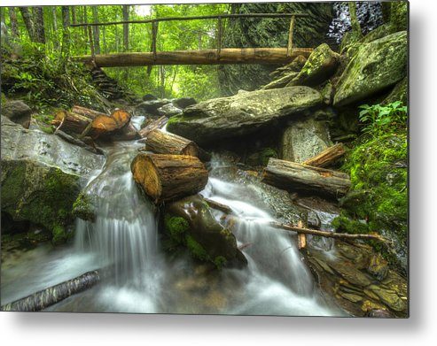 Appalachia Metal Print featuring the photograph The Bridge At Alum Cave by Debra and Dave Vanderlaan