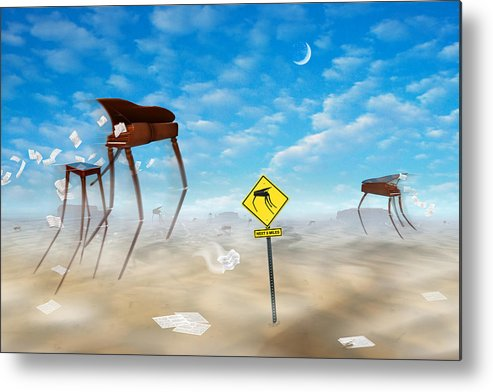Surrealism Metal Print featuring the photograph The Crossing by Mike McGlothlen