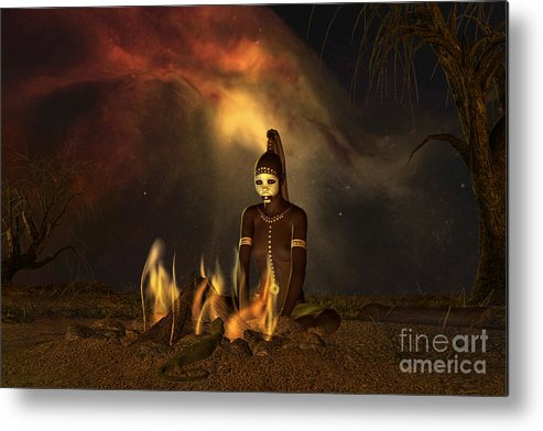 Dreaming Metal Print featuring the digital art The Dreaming by Shadowlea Is