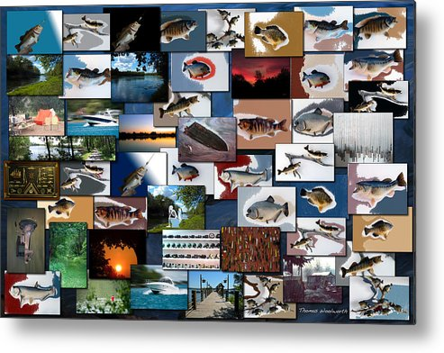 Rectangle Metal Print featuring the photograph The Fishing Hole Collage Rectangle by Thomas Woolworth