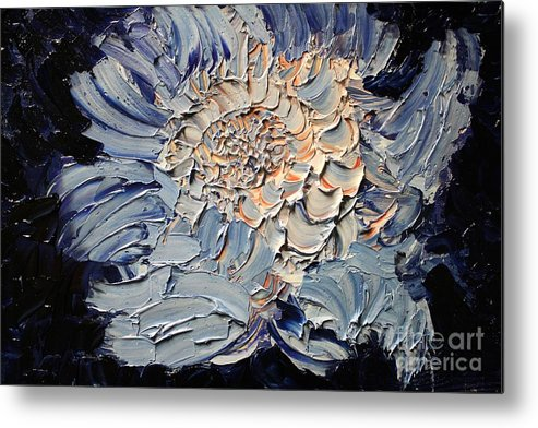 Michael Kulick Metal Print featuring the painting The Flower I Never Sent by Michael Kulick