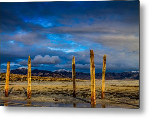 Landscape Metal Print featuring the photograph The Great Salt Lake by Jason Chacon