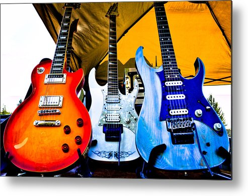 The Kingpins Metal Print featuring the photograph The Guitars Of Jimmy Dence - The Kingpins by David Patterson