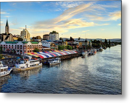 Afternoon. River Metal Print featuring the photograph The Heart Of Valdivia by Charles Brooks