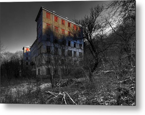 Paesi Abbandonati Metal Print featuring the photograph The House Of Mistery 2 by Enrico Pelos