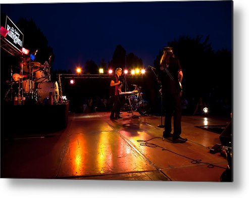 The Kingpins Metal Print featuring the photograph The Kingpins Rock Pullman by David Patterson