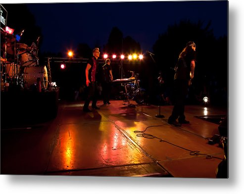 The Kingpins Metal Print featuring the photograph The Kingpins Rock The Night Away by David Patterson