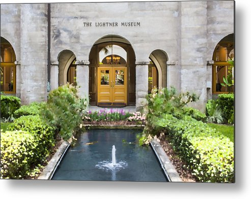 St. Augustine Metal Print featuring the photograph The Lightner Museum by Rich Franco