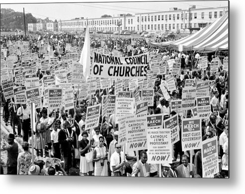 Civil Rights Metal Print featuring the photograph The March For Civil Rights by Benjamin Yeager