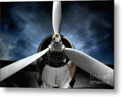 Plane Metal Print featuring the photograph The Mission by Olivier Le Queinec