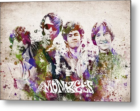The Monkees Metal Print featuring the digital art The Monkees by Aged Pixel