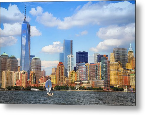 World Trade Center Metal Print featuring the photograph The New New York Skyline by Maggie Magee Molino