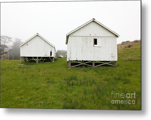 Wingsdomain Metal Print featuring the photograph The Old Pierce Point Ranch At Foggy Point Reyes California 5d28140 by Wingsdomain Art and Photography