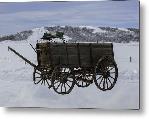Wagon Metal Print featuring the photograph The Old Wagon by Susi Stroud