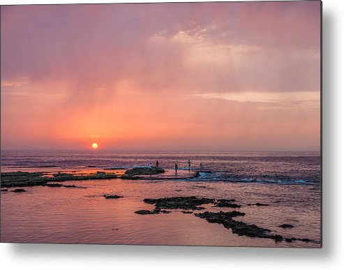 Middle East Metal Print featuring the photograph The Red Sunset by Sergey Simanovsky