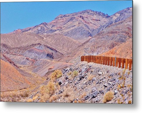 Mountains Metal Print featuring the photograph The Road Up by Marilyn Diaz