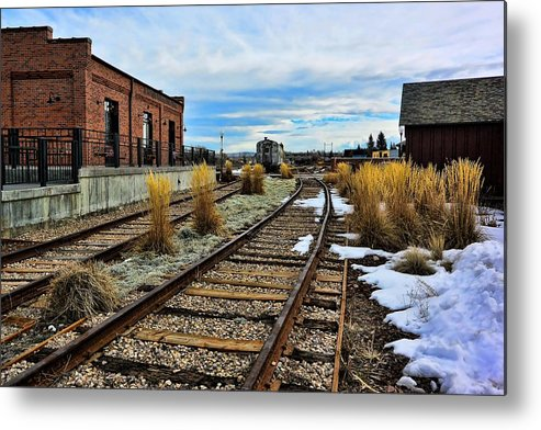 Evanston Metal Print featuring the photograph The Roundhouse Evanston Wyoming - 5 by Ely Arsha