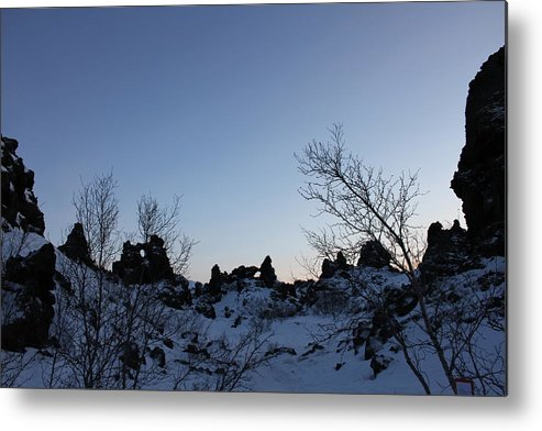Iceland Metal Print featuring the photograph The Sky Over Dimmuborgir Lava Fields by Derek Sherwin