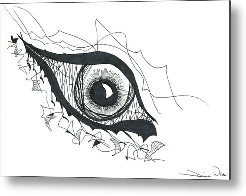 Eye Metal Print featuring the drawing The Sorcerer's Divine Dance Of Infinite Divine Light by Daina White
