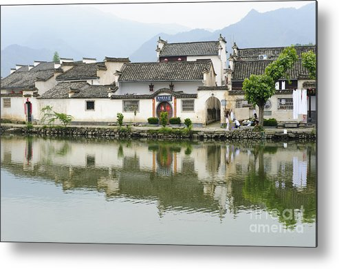 Asia Metal Print featuring the photograph The South Lake In Hongcun Village by John Shaw