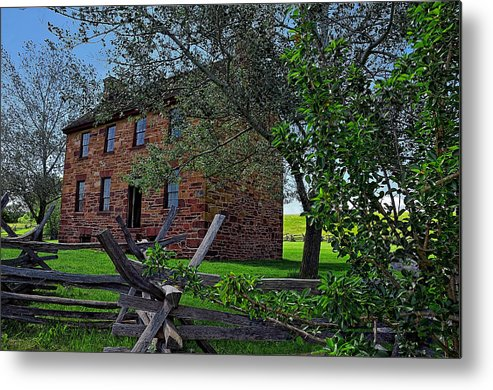 Stone Metal Print featuring the photograph The Stone House by Dave Sandt